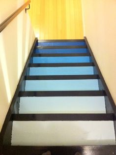 Weekend project via @HomeDepot: Gradated the stairs with @behr samples (and sealer!). yfrog.com/h3idgktj
