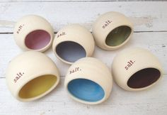 Choose Your Color Handmade Salt Pig Salt Holder by jclayPottery, $34.00 - in French Grey