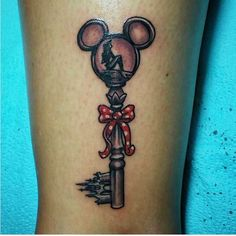 DISNEY MICKEY EARS TATTOO KEY, NOT ARIEL, THOUGH...