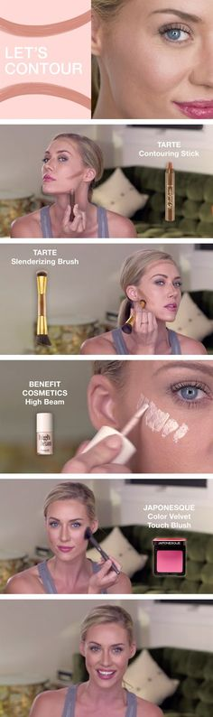 Watch our tutorial to get tips on creating a natural, beautiful, everyday look, using contouring and highlighting techniques. (Beauty Tricks And Tips) Beauty Make-up, Beauty Secrets, Natural Beauty, Beauty Hacks, Make Up Tricks, The Face, Contouring And Highlighting, Easy Contouring, Strobing