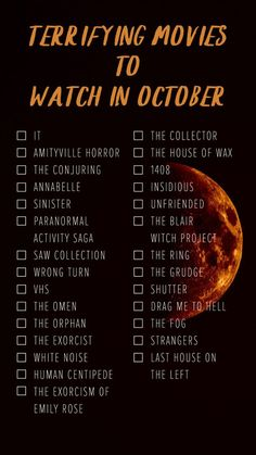 Ultimate October Scary Movie List: from kids to adults, something for everyone