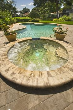 Pool And Spa Design For Outdoor Decor 16 Swimming Pool Pictures, Swimming Pool Designs, Swimming Pools, Spa Design, Pool Spa, Outdoor Projects, Outdoor Decor, Outdoor Spaces, Outdoor Living