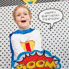 Vintage SUPER HERO Birthday Party