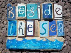 'beside the sea' - driftwood art