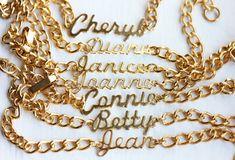 Sample Sale  Vintage Chain Name Bracelet  Lots by diamentdesigns