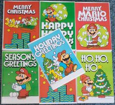 Some really nice oldskool #SuperMario greeting cards! http://www.superluigibros.com