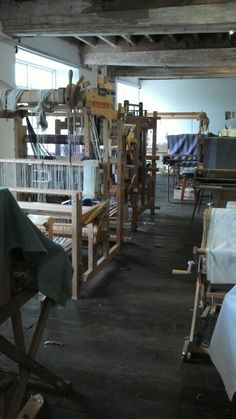 The weaving workshop at Coldharbour Mill