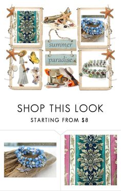 Summer's Pardise by elsiescreativedesign on Polyvore featuring jewelry, beachjewelry, giftforher, epiconetsy and EtsyTeamUnity