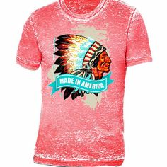 "Maverick Rose T-Shirt Line, ""Made In America"" Chief, $39, www.maverickrose.com  #tshirts #chieftshirt #chief #madeinamerica #made in America"