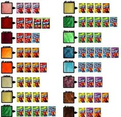 Kool-aid hair color guide. I remember pinning this but I couldn't find it so... I'm pinning it again.: