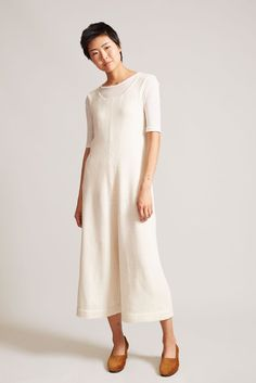 Lauren Manoogian Miter Jumpsuit in White