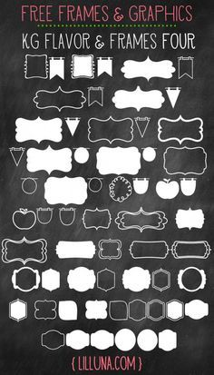 CUTE and FREE Frames & Graphics to use in your designs (Favorite Fonts Dafont) Spring Font, Cliparts Free, Web Design, Graphic Design, Idee Diy, Chalkboard Art, Chalkboard Designs, Cool Fonts, Fun Fonts
