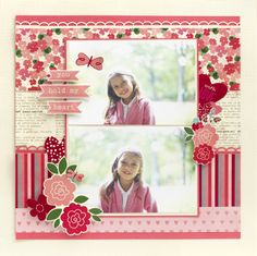 #papercraft #scrapbook #layout.  A cute Yours Truly Layout
