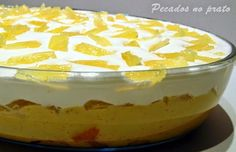 Pecados no prato: Pavê de ananas Pretzel Desserts, Trifle Desserts, Fun Desserts, Portuguese Desserts, Portuguese Recipes, Sweet Recipes, Cake Recipes, Dessert Recipes, Pineapple Desserts