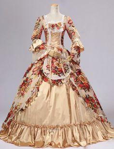 Vestido Vitoriano c/ rosas vermelhas