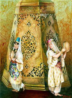Dusler Forum, Forumlar Güncel Birçok Konuyu İçeren, Bilgi Paylaşım ve Eğlence Sitesidir. Princess Fairytale, Tambourine, Woman Painting, Islamic Art, Fairy Tales, Beautiful Places, Dancer, Ottoman, African