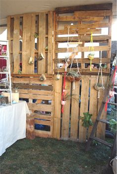 We are thinking of using some old pallets to create a rustic back wall in the lounge. Maybe with some white lights strung through them...