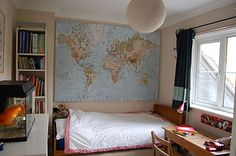 Ikea World Map for child\'s bedroom. | My Designs | Pinterest ...