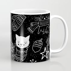 Merry Christmas-Simple X-mas Fun Doodle-Mix and Match with Simplicity of Life Coffee Mug by Simplicity Of Life | Society6