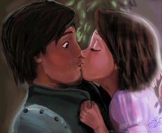 Kiss by DreamyArtistRoxy3.deviantart.com on @DeviantArt