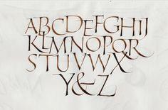 Casual Roman Alphabet - Joan Quirós Calligraphy