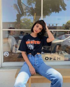 bowling outfit date Skater Girl Outfits, Teen Fashion Outfits, Mode Outfits, Ladies Fashion, Cute Casual Outfits, Retro Outfits, Vintage Outfits, Summer Outfits, Aesthetic Fashion