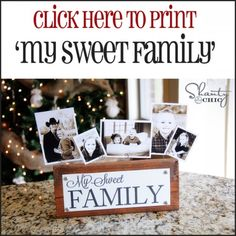 printable my sweet family