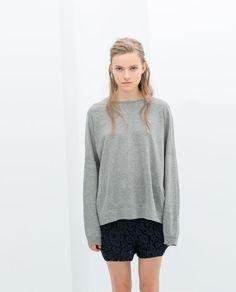 Imagem 1 de SWEATSHIRT ESTAMPADO NAS COSTAS da Zara