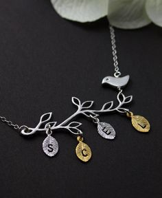 Personalized Jewelry  Family Tree ll   Gold & by MenuetDesigns, $36.50