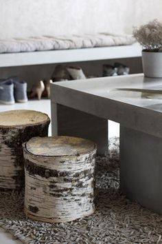 birch stools, or any stump, to set by the fire pit.