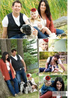 family photo shoot with dog