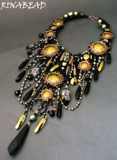 Design of the day - necklace Forgotten dreams by RinaBead Click on link to see More Photos - http://beadsmagic.com/?p=7500
