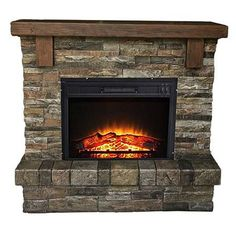 22 best faux stone electric fireplace images in 2014 fire places rh pinterest com