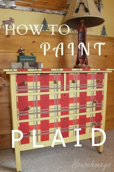 how to paint a plaid pattern on furniture, painted furniture Furniture Plans, Furniture Makeover, Diy Furniture, Furniture Refinishing, Upcycled Furniture, Unusual Furniture, Chair Makeover, Handmade Furniture, Luxury Furniture
