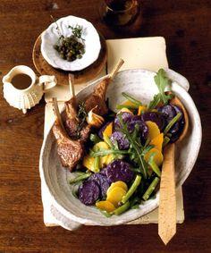 Bunter Kartoffelsalat mit Bohnen und Paprika