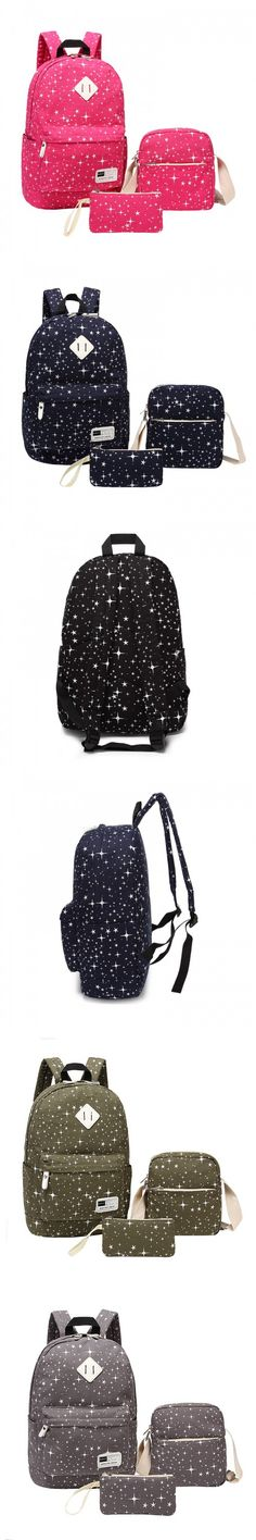 Red star girls school bags cute pencil case canvas backpack women shoulder bag kids school backpack for boy bag school rucksack $39.88