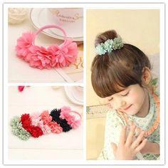 6d22472845b Chiffon flowers children baby girls hair accessories rubber bands barrettes  girl headwear bow Retail wholesale https