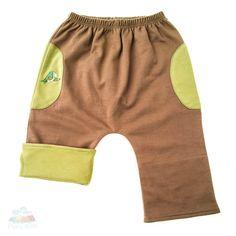 Baby Funktionshose aus seltener Pima Bio Baumwolle. Als Short oder lange Hose tragbar und damit für alle Jahreszeiten geeignet.