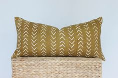 12x24 Mustard Yellow and White Mudcloth Lumbar Pillow Cover, Arrow  MudCloth Pillow, Tribal Mudcloth Pillow, Bohemian Pillow, Yellow Pillow by ONEAFFIRMATION on Etsy https://www.etsy.com/listing/534658644/12x24-mustard-yellow-and-white-mudcloth