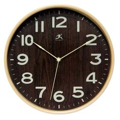Infinity Instruments Bentwood Small 12-1/2' Wall Clock 14066NT-3161WL