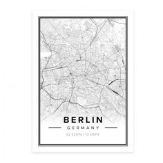 Berlin Modern Print by Mapiful from Sweden #MONOQI