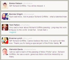 HP actors remembering Richard Griffiths. :(