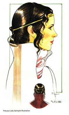Leia - Hairstyle concept art