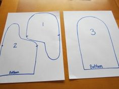 pattern for making mittens from old sweaters | First choose and old sweater. For your warmest mittens, it should be ...