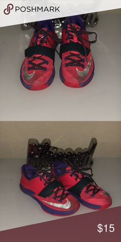 d9955ff7fb28 Pink and purple Nike KD sneakers. Worn Nike KD sneakers. Nike Shoes  Sneakers Kd