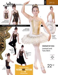 Jalie 2915 - Stretch Tutu (Leotard + Skirt) PDF Pattern