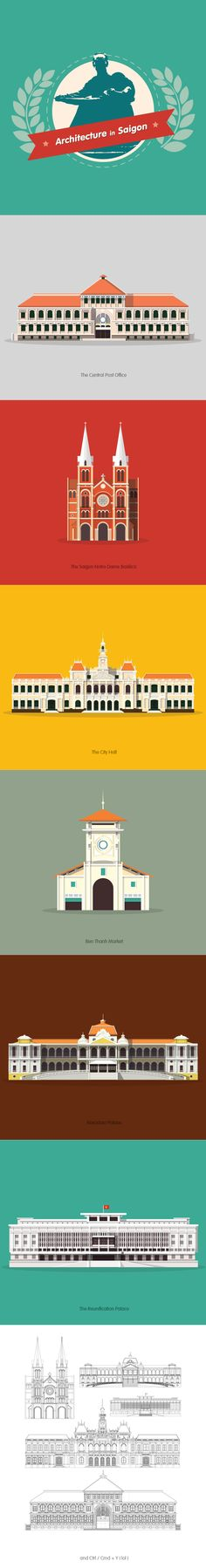 Saigon Landmarks on Behance