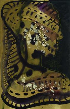 Eileen Agar (1899-1991), Dark Goddess, 1949. Watercolor, pastel and gouache. Galerie Thessa Herold at the Salon du dessin 2015, 25 - 30 March.
