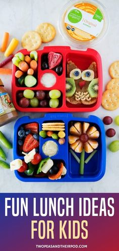 Healthy and fun lunch ideas that are perfect for school or home. Even the pickiest of young eaters will love these nutritious and delicious lunches! Easy Healthy Recipes, Baby Food Recipes, Healthy Meals, Yummy Recipes, Chocolate Covered Raisins, How To Make Sandwich, Toddler Snacks, Yummy Food, Fun Food