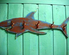 Waves Coat Rack Hook Rack Sign Wall Beach House von CastawaysHall